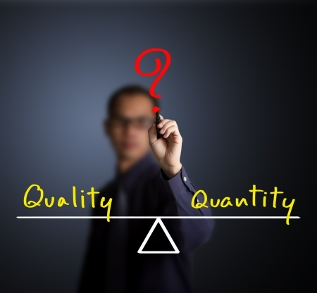 Choosing Quantity or Quality